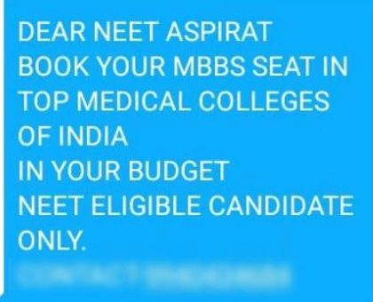 Paying touts for MBBS admissions? It will be cancelled, warns Medical Council